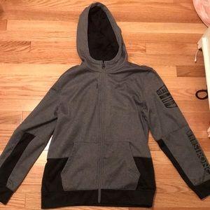 Grey and black Reebok sweatshirt